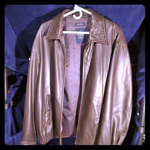 Vintage Nautica Leather Jacket